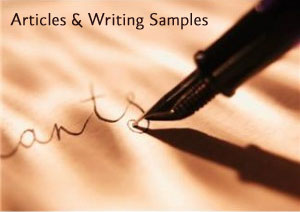 Articles and Writing Samples